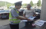 蕉城交警开展客货运车辆交通安全宣传