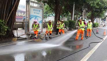 蕉城区开展全城大扫除 给城市洗个澡