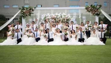 """情定""""520""""13对新人举办大型集体婚礼"""