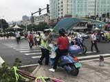 交警开展遮阳伞专项整治行动