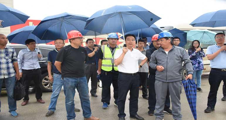 毛祚松赴乡镇调研重点项目建设