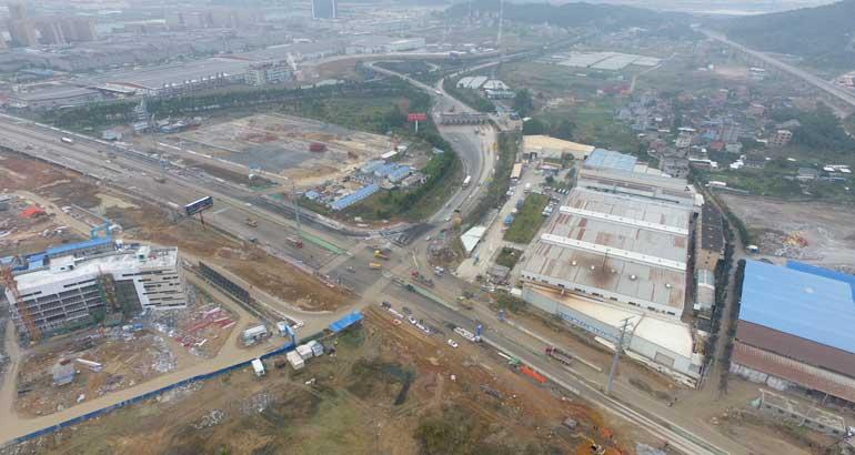 疏港路项目建设有序推进