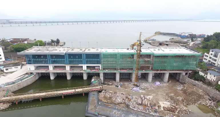 東湖塘二十五孔閘二期即將試運行