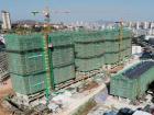 棚户区改造一期项目6栋主楼已完成封顶